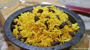 Perfectly Spiced Rice With Raisins