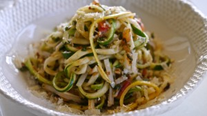 Zucchini and Rice Noodles Vegetarian Pasta